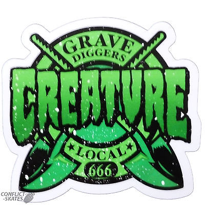 Creature grave diggers skateboard snowboard sticker decal 8cm x