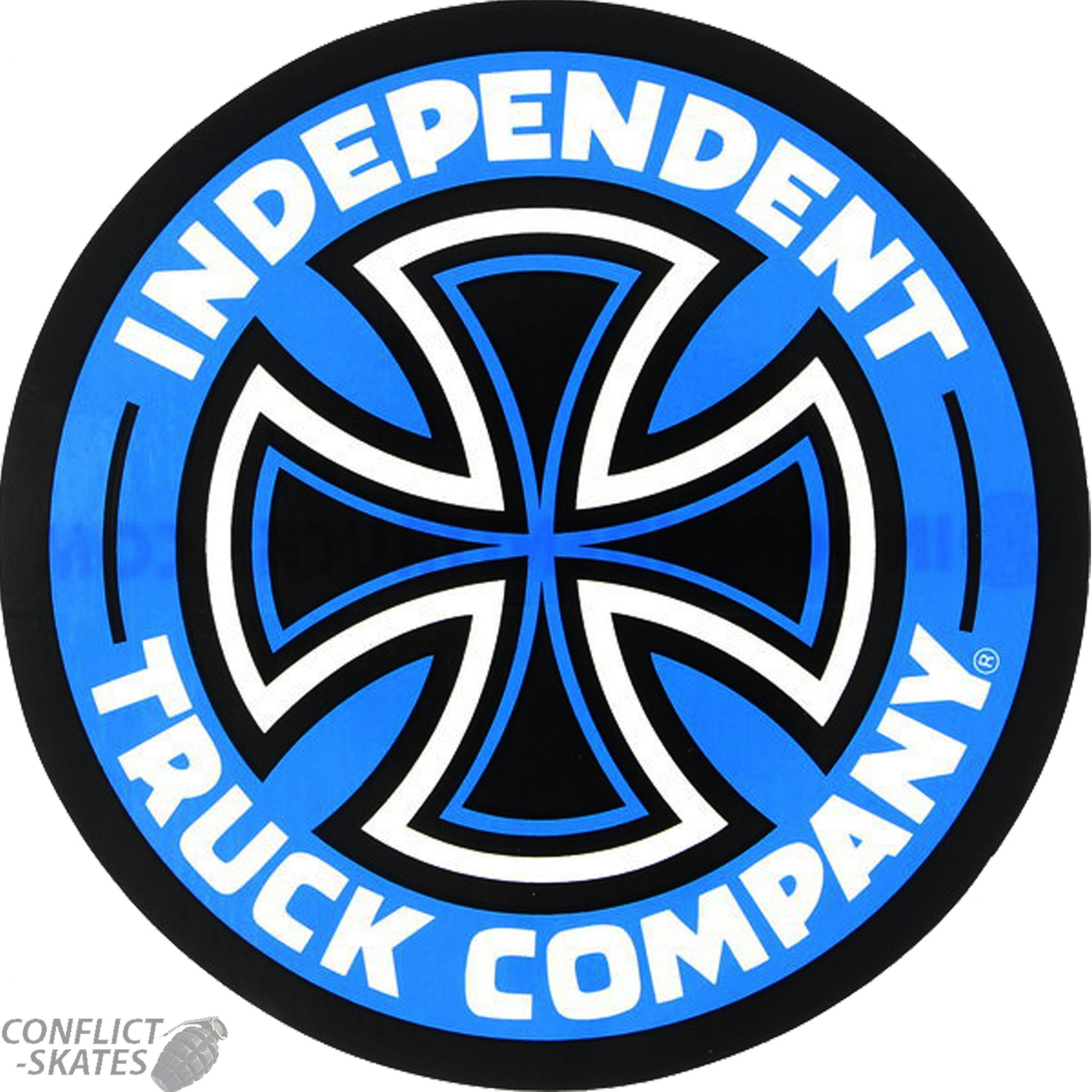 Independent Colored Truck Company Skateboard Sticker 13cm