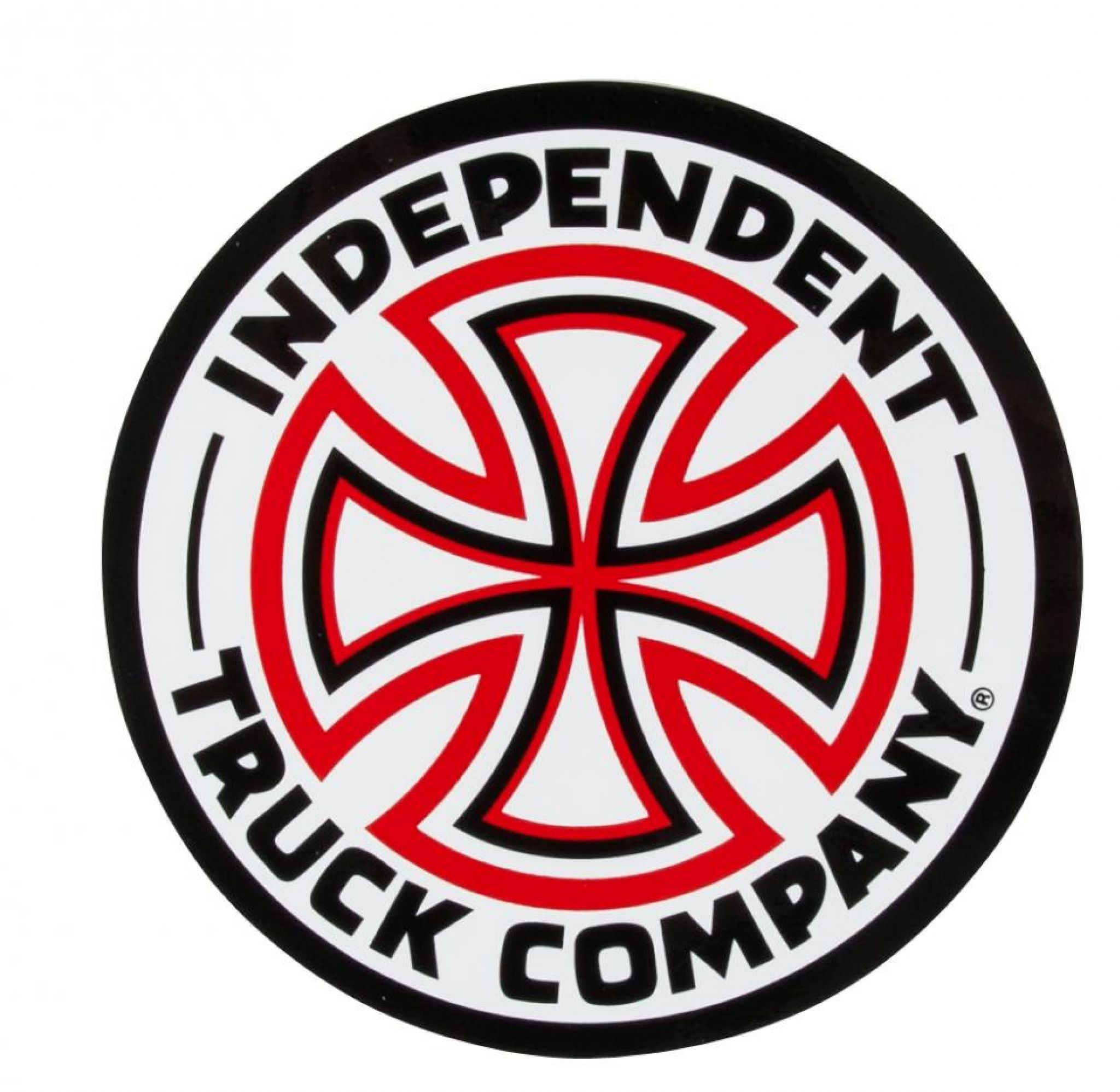 independent cross skateboard sticker 15cm red white large indy trucks rh conflictskates co uk  independent truck company logo