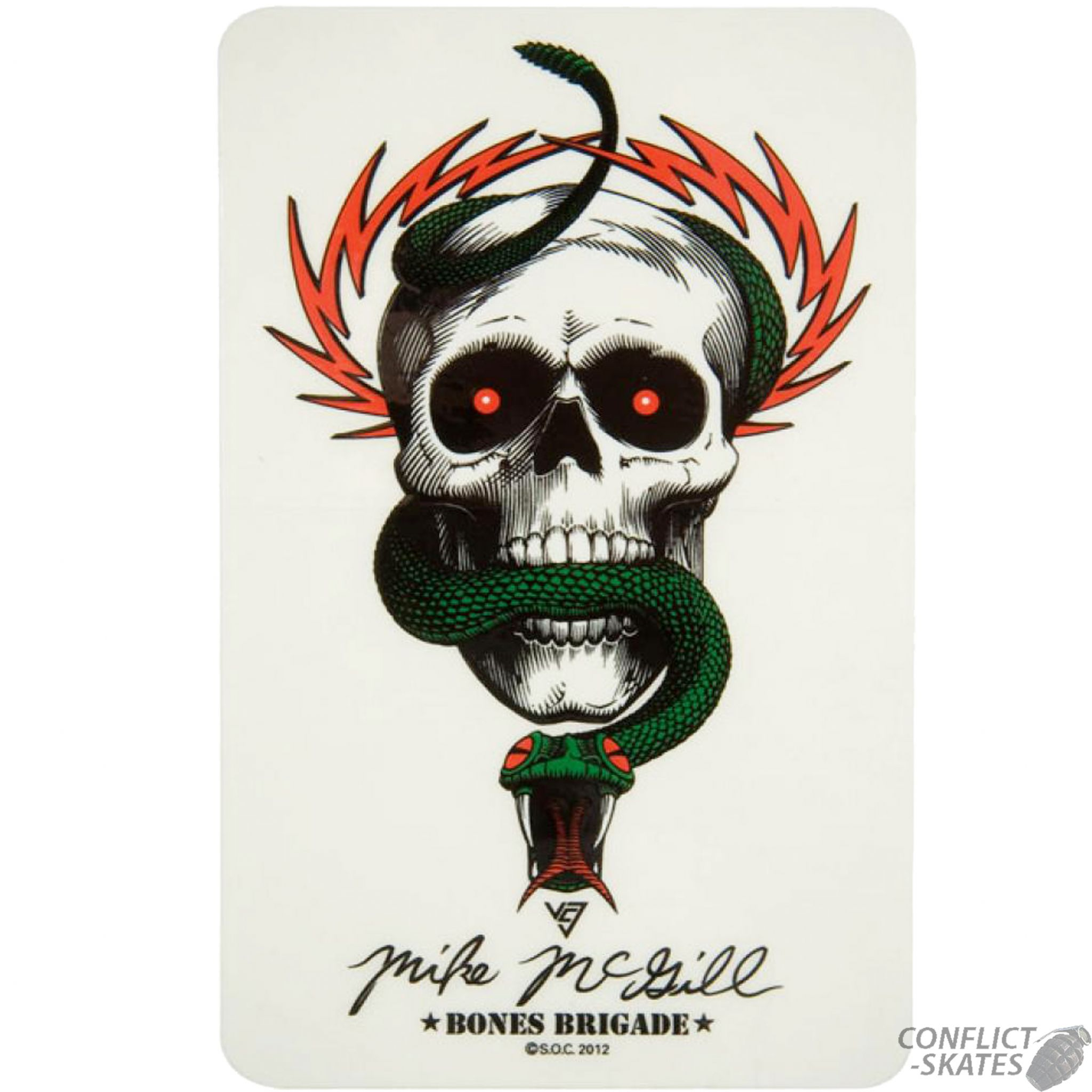 Powell Peralta Skull Amp Snake Mcgill Skateboard Sticker