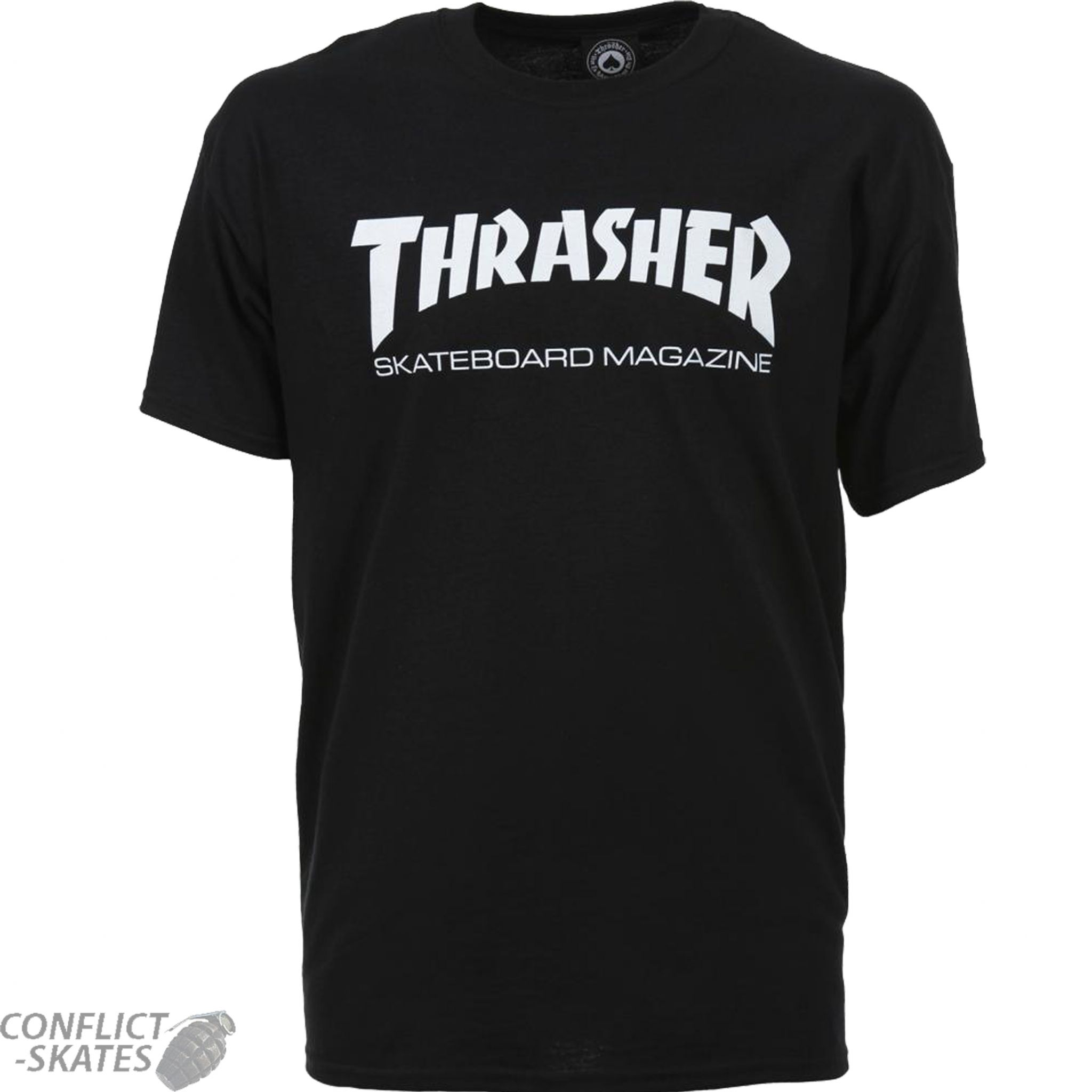 thrasher magazine skate mag logo skateboard t shirt black s m l xl or xxl. Black Bedroom Furniture Sets. Home Design Ideas