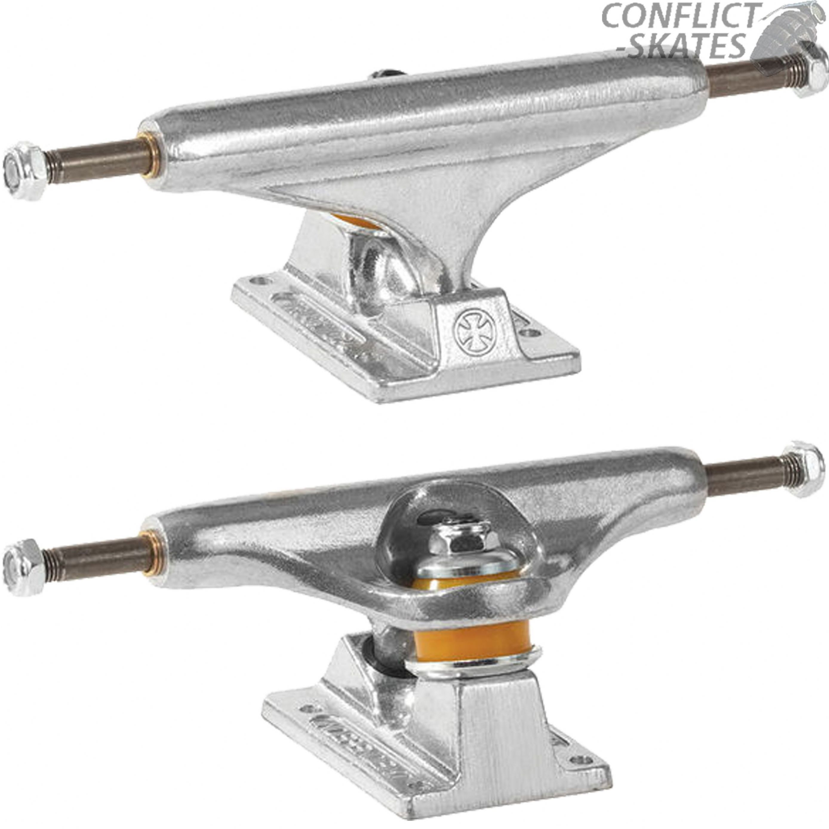 INDEPENDENT 139 Stage 11 Raw Skateboard Trucks Polished 8.0 Park Street Indy cc4bb46d7