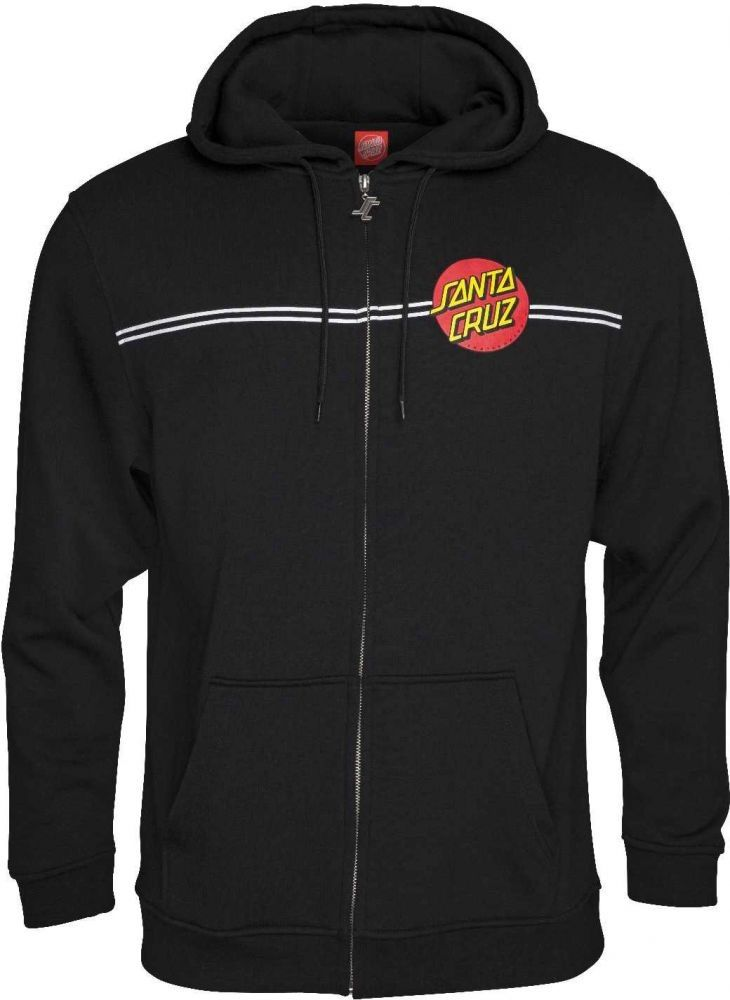 3301f982 SANTA CRUZ Classic Dot Zip Hooded Sweatshirt BLACK S M L XL XXL Hood Hoodie