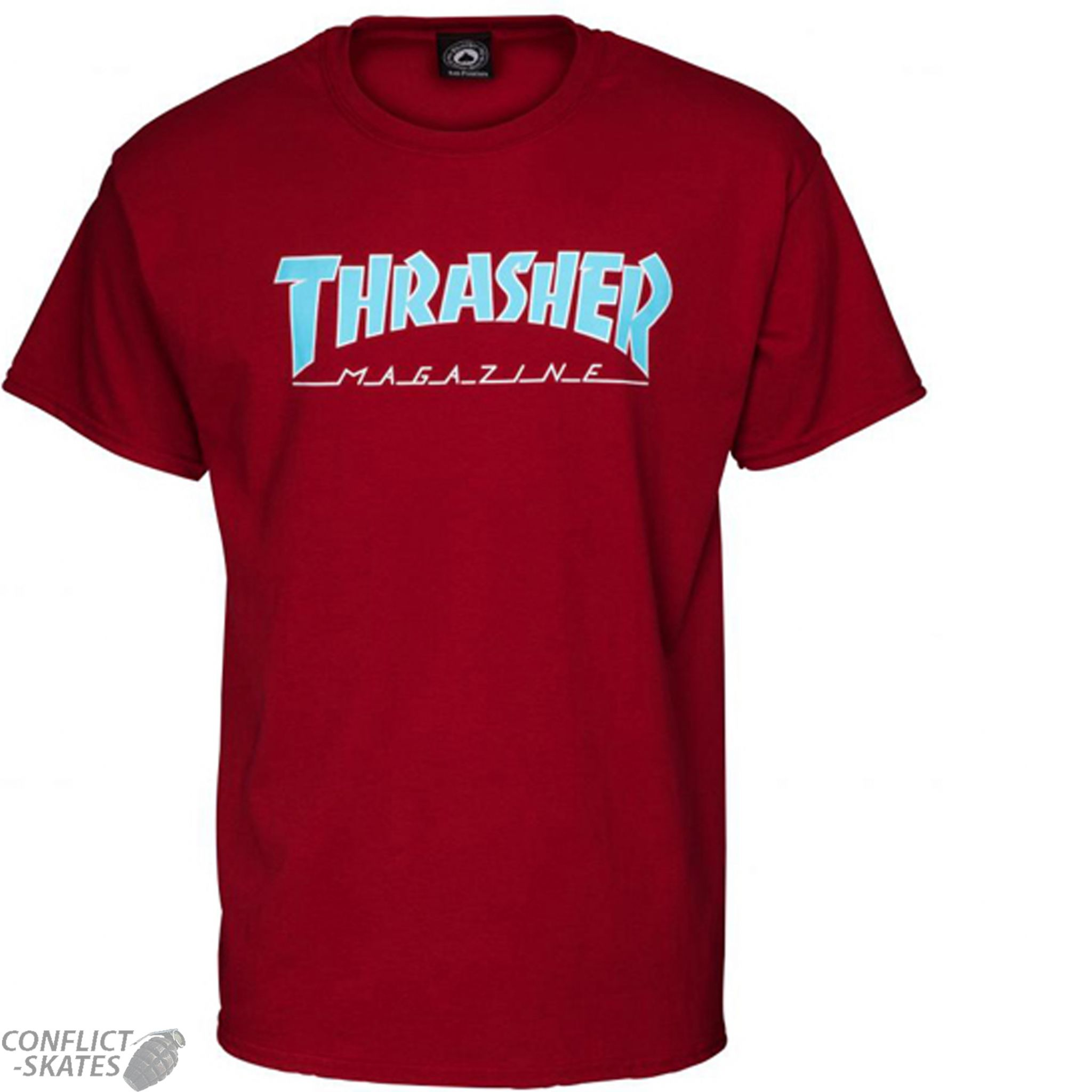 3ac9fb07aa32 THRASHER MAGAZINE Outlined Skateboard T-Shirt Cardinal Red S M L or XL punk