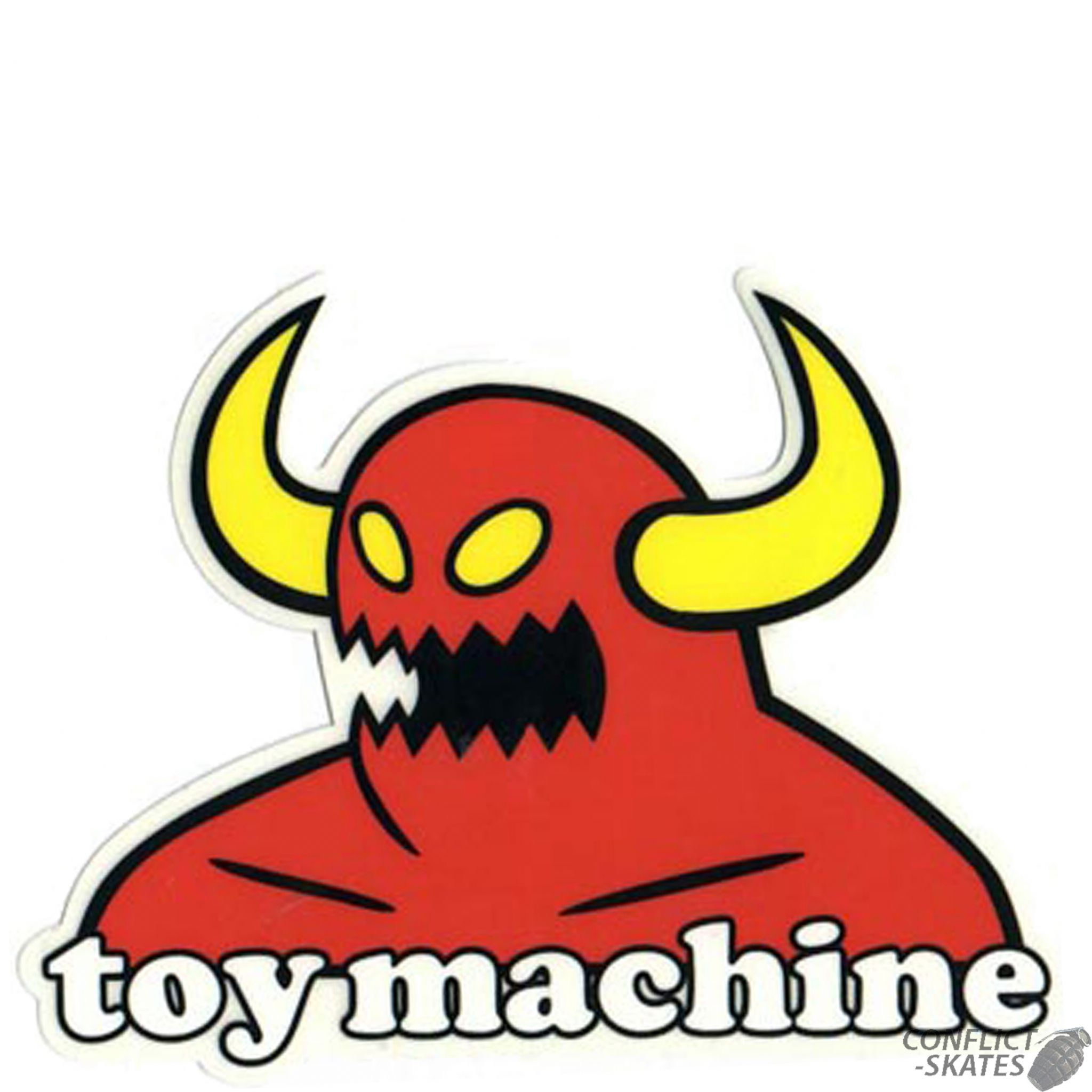 Toy Machine Monster Skateboard Sticker 13cm X 10cm Red